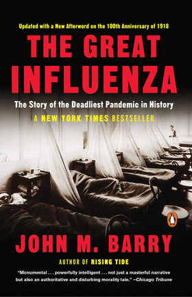 The cover of The Great Influenza by John M. Barry.